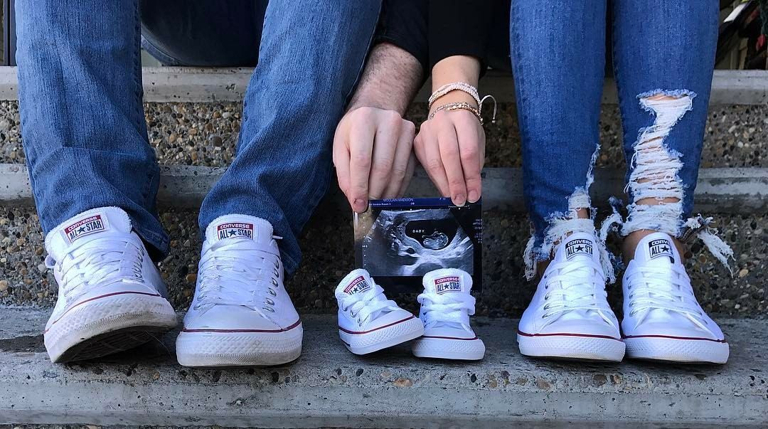 converse baby announcement | Baby announcement pictures