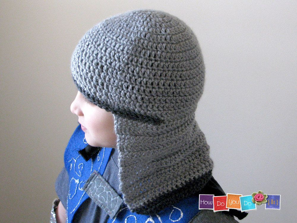 Diy Halloween Knight Costume Knight Helmet Crochet Pattern Hat