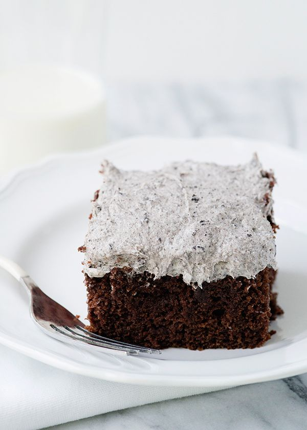 Cookies and Cream Snack Cake #cookiesandcreamcake