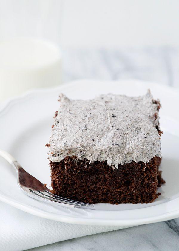 Cookies and Cream Snack Cake #cookiesandcreamcake