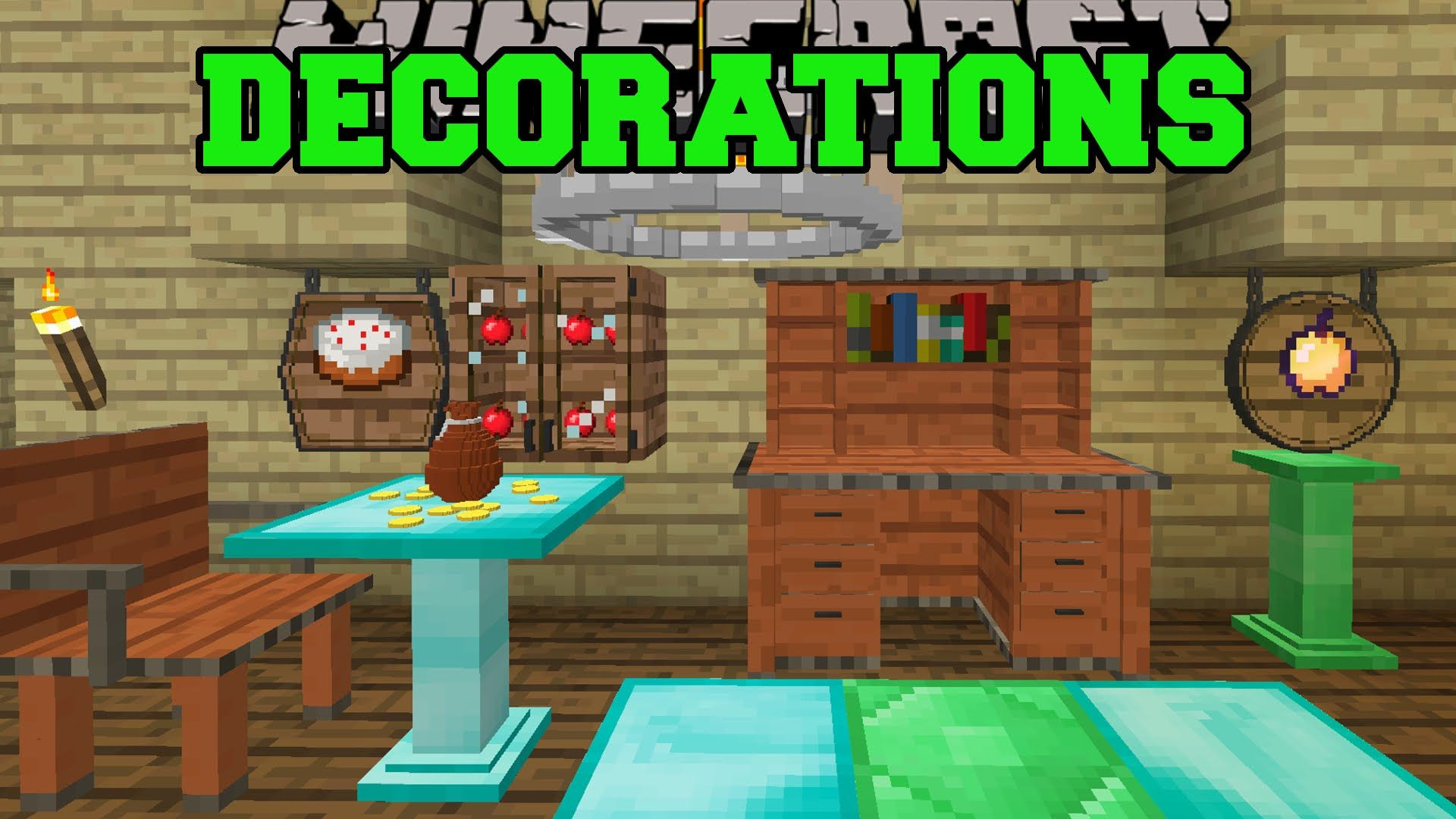 Minecraft Decorations Overload Cabinets Chandeliers Fountains Signs More Mod Minecraft Decorations Minecraft Birthday Decorations Minecraft Birthday