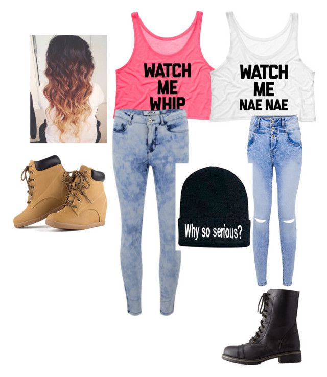 """with da friend"" by asgmiller ❤ liked on Polyvore featuring ONLY and Charlotte Russe"