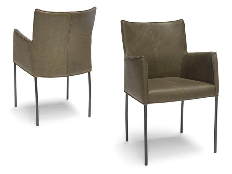 Gerard Van Den Berg 2 Design Eetkamerstoelen.Cabana Design Eetkamerstoel Met Armleuning Met Zwarte
