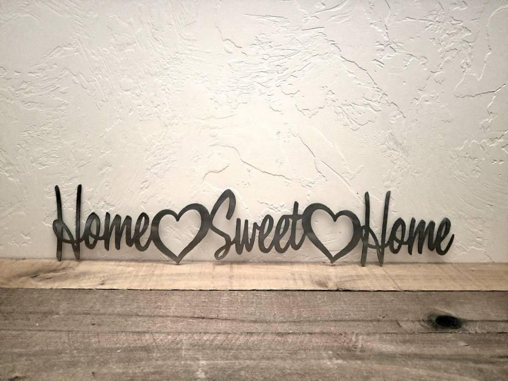 Home Sweet Home Sign Metal Decor 25 Inch Entryway Sign Etsy Entryway Signs Home Signs Sweet Home