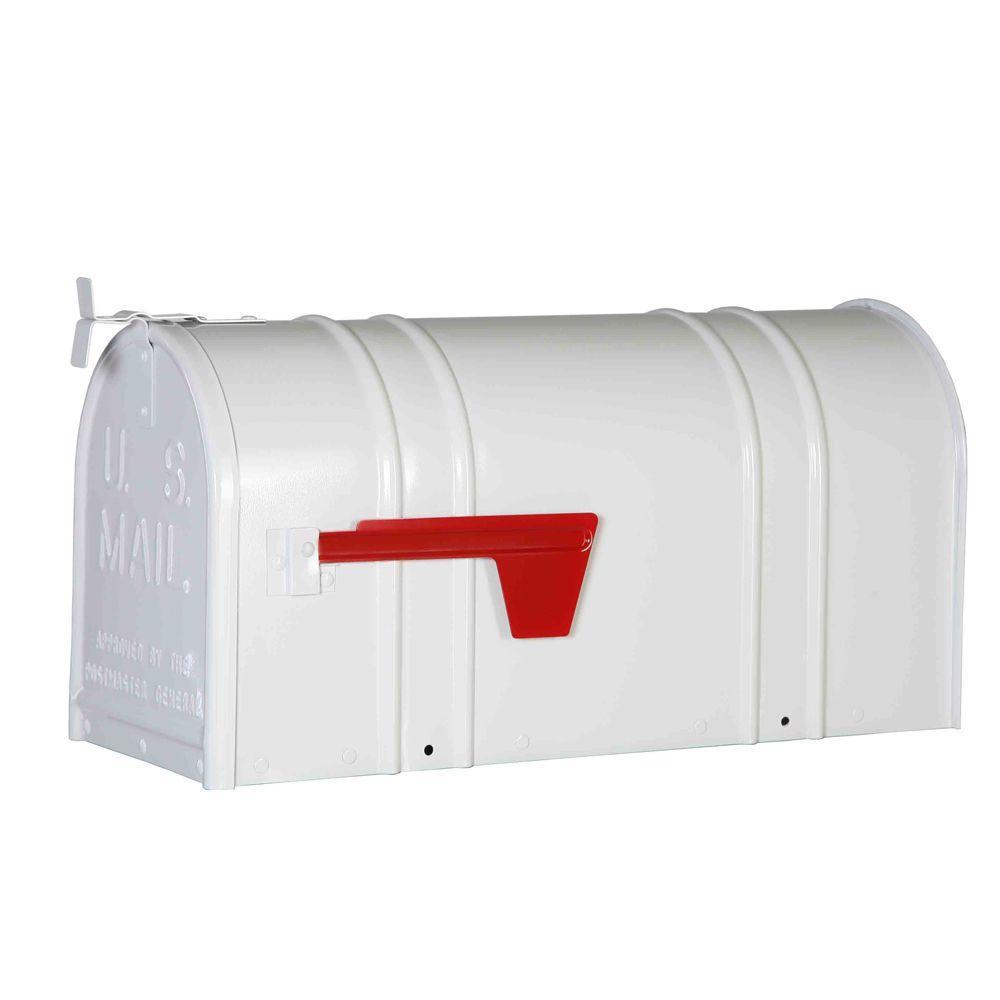 Postal Pro Mailbox Post Kit Fits Over 4x4 Non-Locking Rust Proof Plastic White