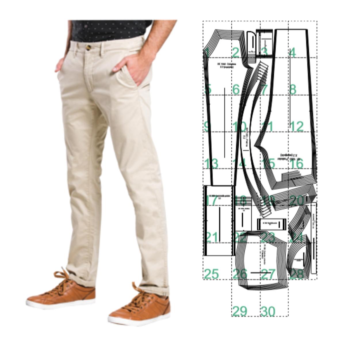 Pantalon Dril De Hombre Ref 1050 Patrones Confecciones Cursos Online De Costura Pantalones Hombres Pantalon Hombre