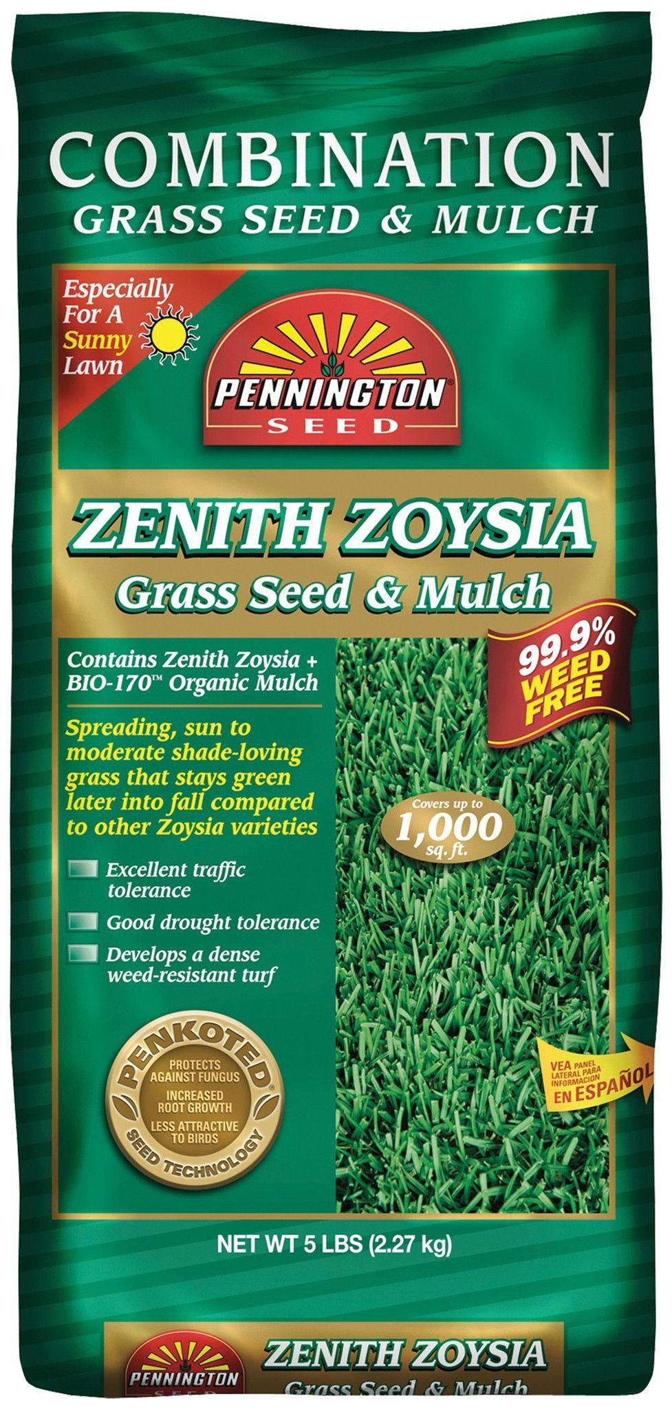Pennington Zenith Zoysia Grass Seed With Mulch Zoysia Grass Seed Grass Seed Zoysia Grass