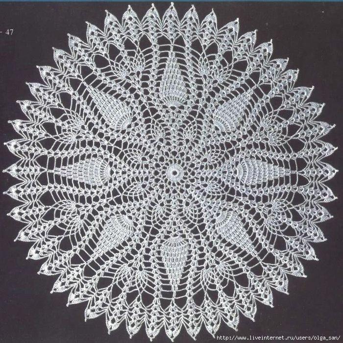 Ronda de crochet servilleta.Shem .. Discusión sobre LiveInternet ...