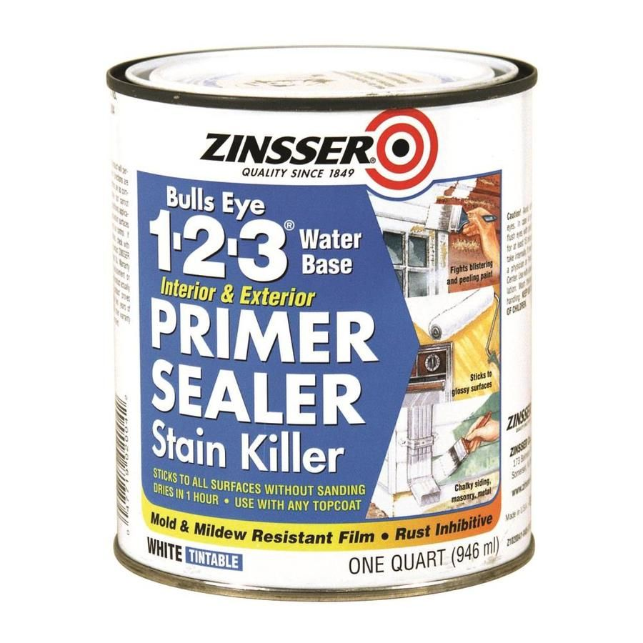 Zinsser Bulls Eye 1 2 3 Multi Purpose Primer Quart Size Container Actual Net Contents Painting Laminate Cabinets Laminate Cabinets Exterior Primer