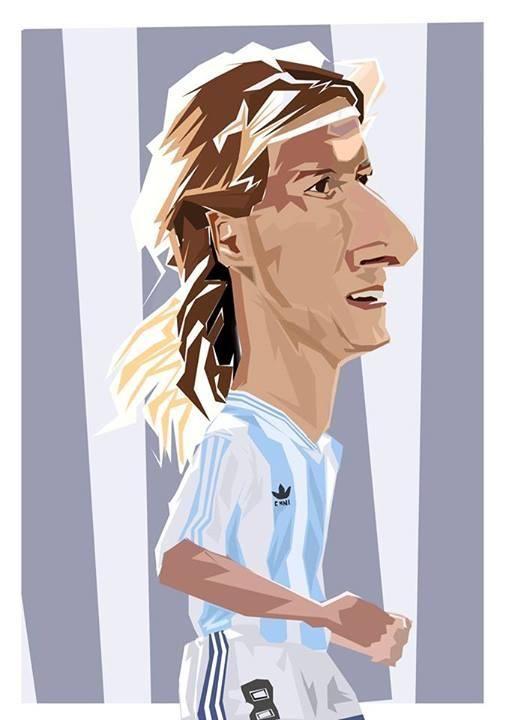 Resultado de imagen para caricatura de CLAUDIO CANIGGIA