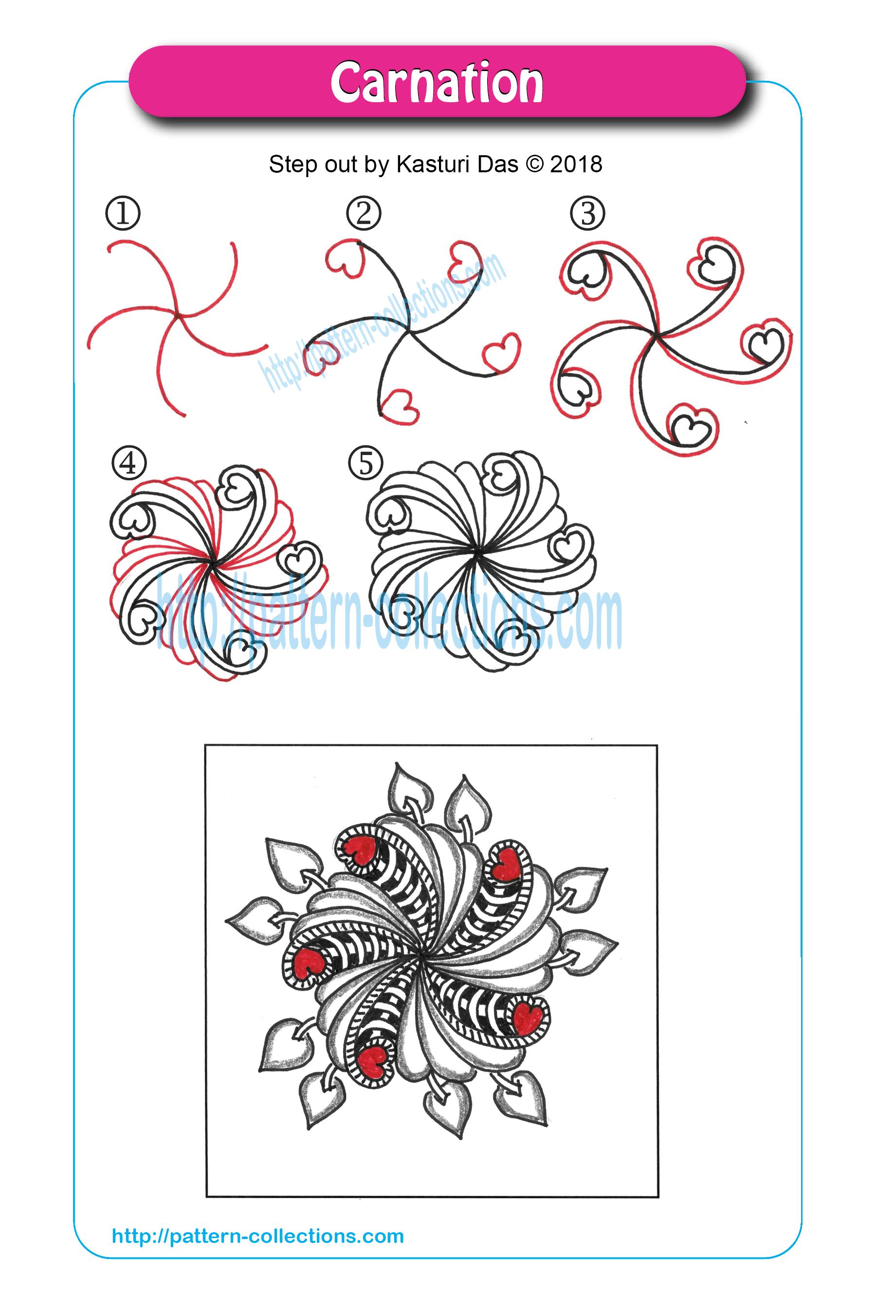 pin auf tangle - doodle tutorial