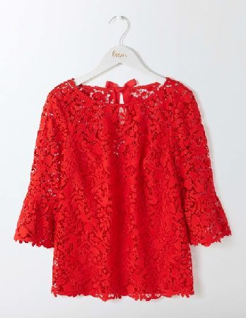 793ac305d04  Boden Brittany Lace Top Post Box Red Women Boden