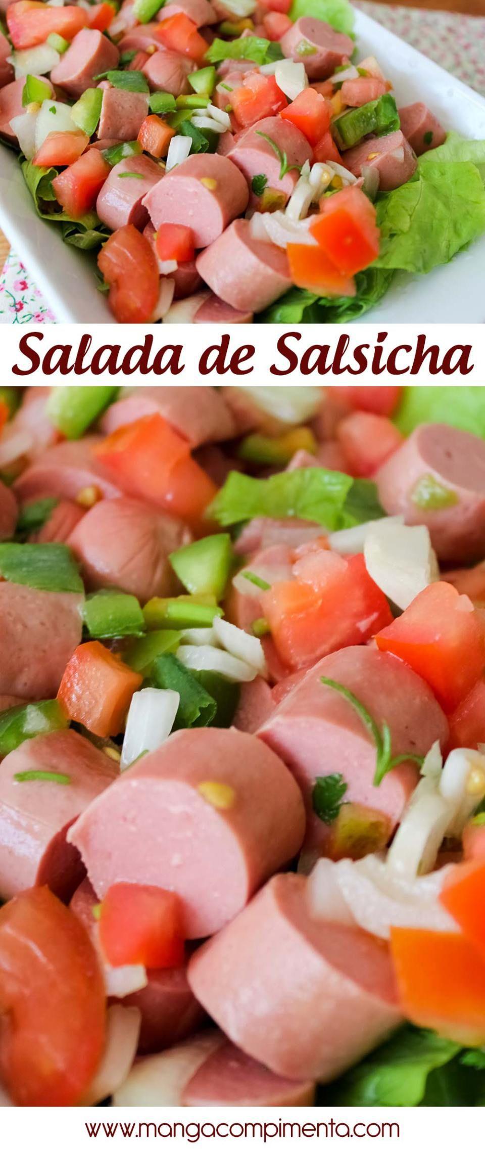 Salada de Salsicha - receita versátil para petiscar ou para por no meio do pão! #copadomundo  #receita #salsicha