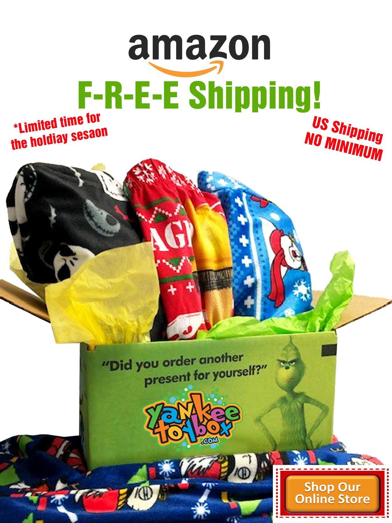 F-R-E-E Amazon SHIPPING! NO minimum purchase! No membership