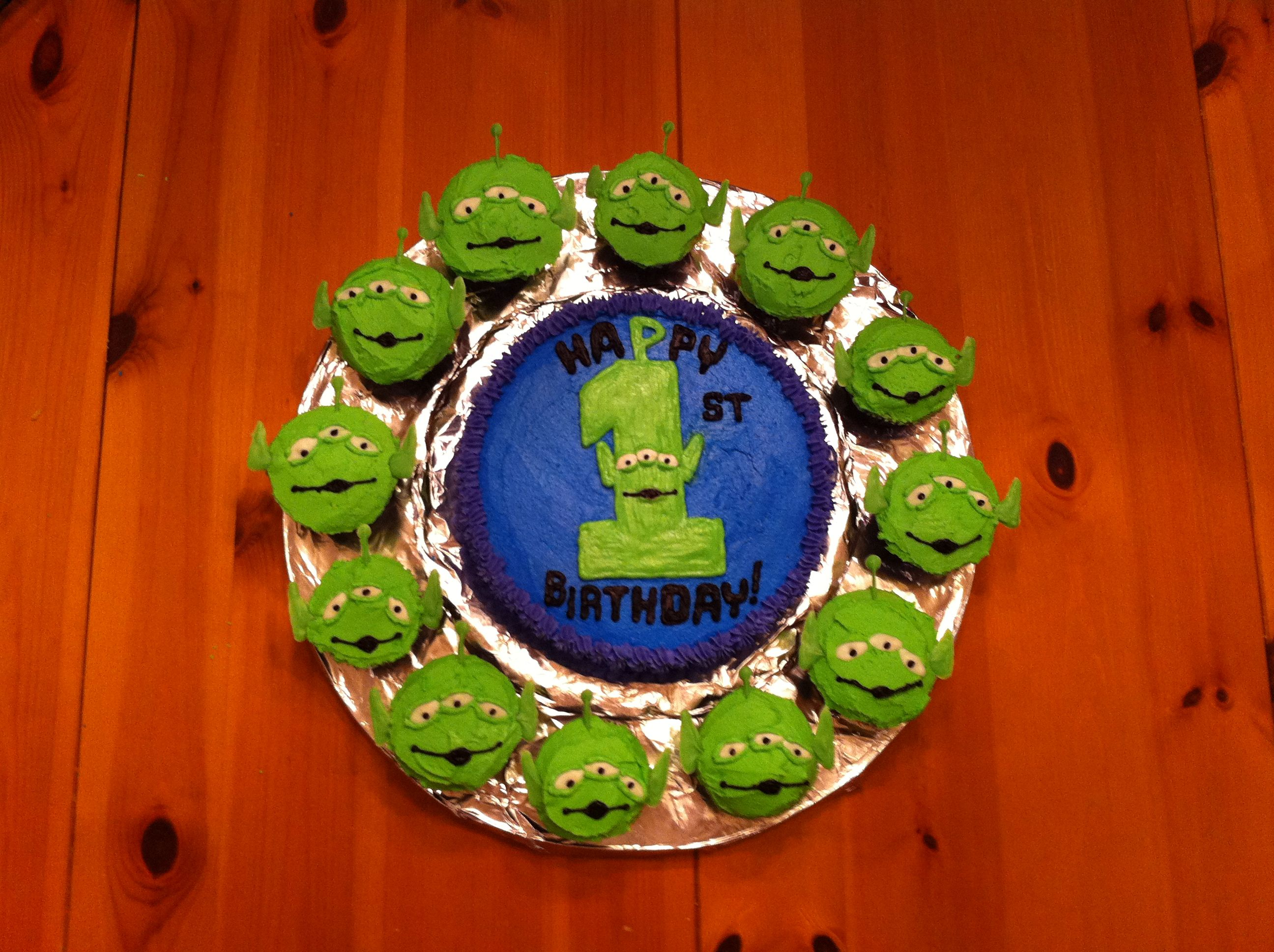 Toy Story alien cake: To make the eyes, ears and antennae: 1. Melt ...