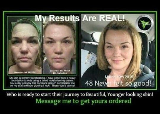 AMAZING!! 💚 message me to start trying it right away to achieve your own results now!
