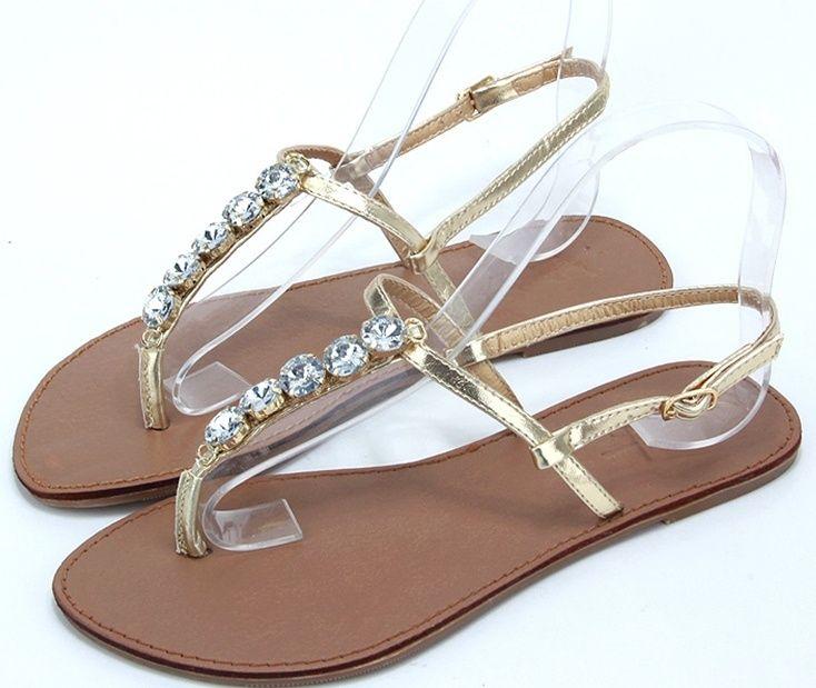 Shoes For Women PU Flat Heel Flip Flops Sandals Outdoor Casual Silver Gold