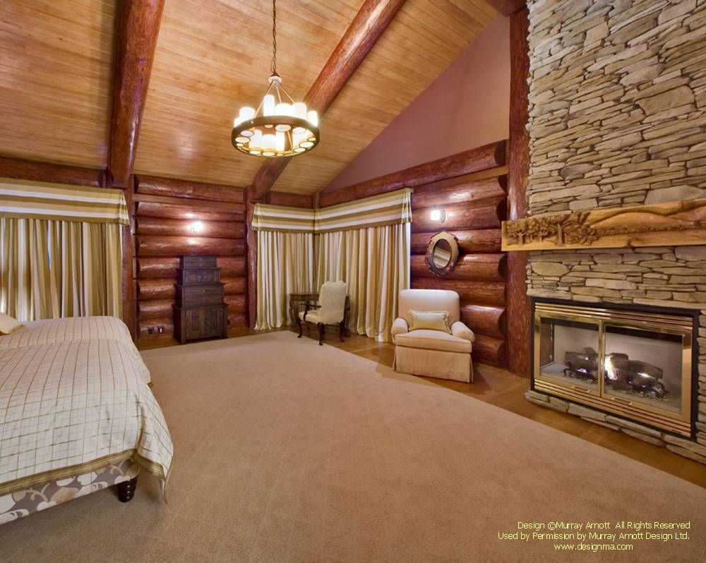 Bedroom in a round log post and beam home I designed in the ... on timber frame construction, timber frame bathroom, timber frame ideas, roof house designs, timber frame kitchen, timber frame interior design, timber frame living room, construction house designs, timber frame bedroom, timber frame books, post frame house designs, timber frame ceiling, timber frame home, timber frame lighting, landscaping house designs, timber home designs, timber frame cottage, timber frame landscaping, timber frame furniture, timber frame additions,