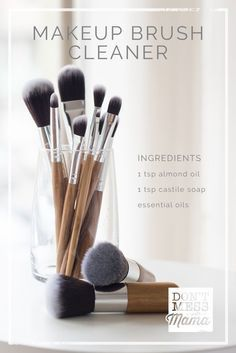 Photo of Clean your makeup brushes with this DIY makeup brush cleaner. It helps z …