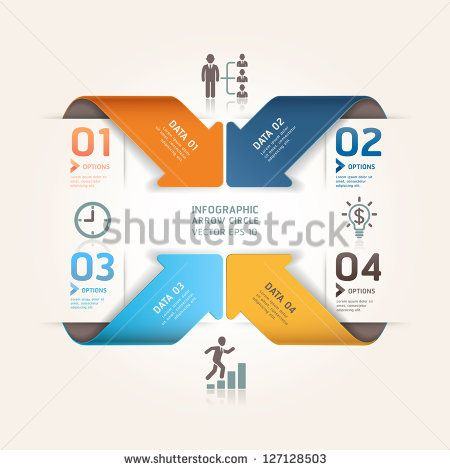 Modern arrow origami style number options banner vector modern arrow origami style number options banner vector illustration can be used for workflow ccuart Gallery