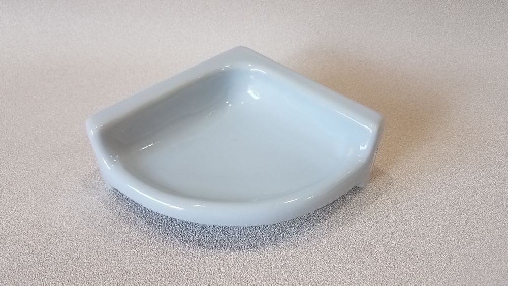 Ba 1332 Nos Ceramic Soap Dish Light Blue Corner Bathroom Shower 5