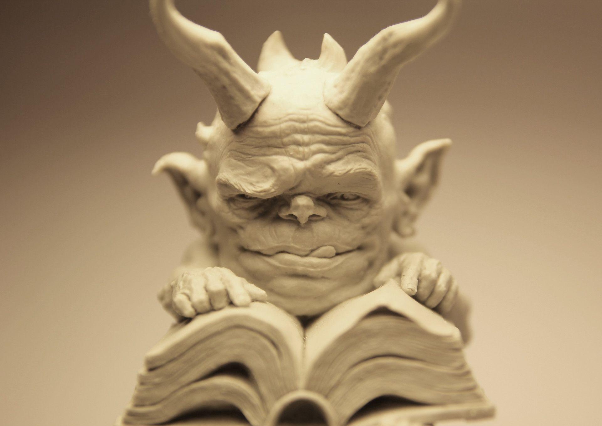 Artstation archivist demon romain van den bogaert Скульптура