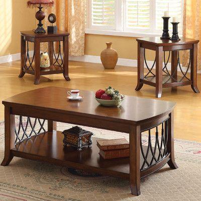Wildon Home Aden 3 Piece Coffee Table Set Wayfair 9 Home