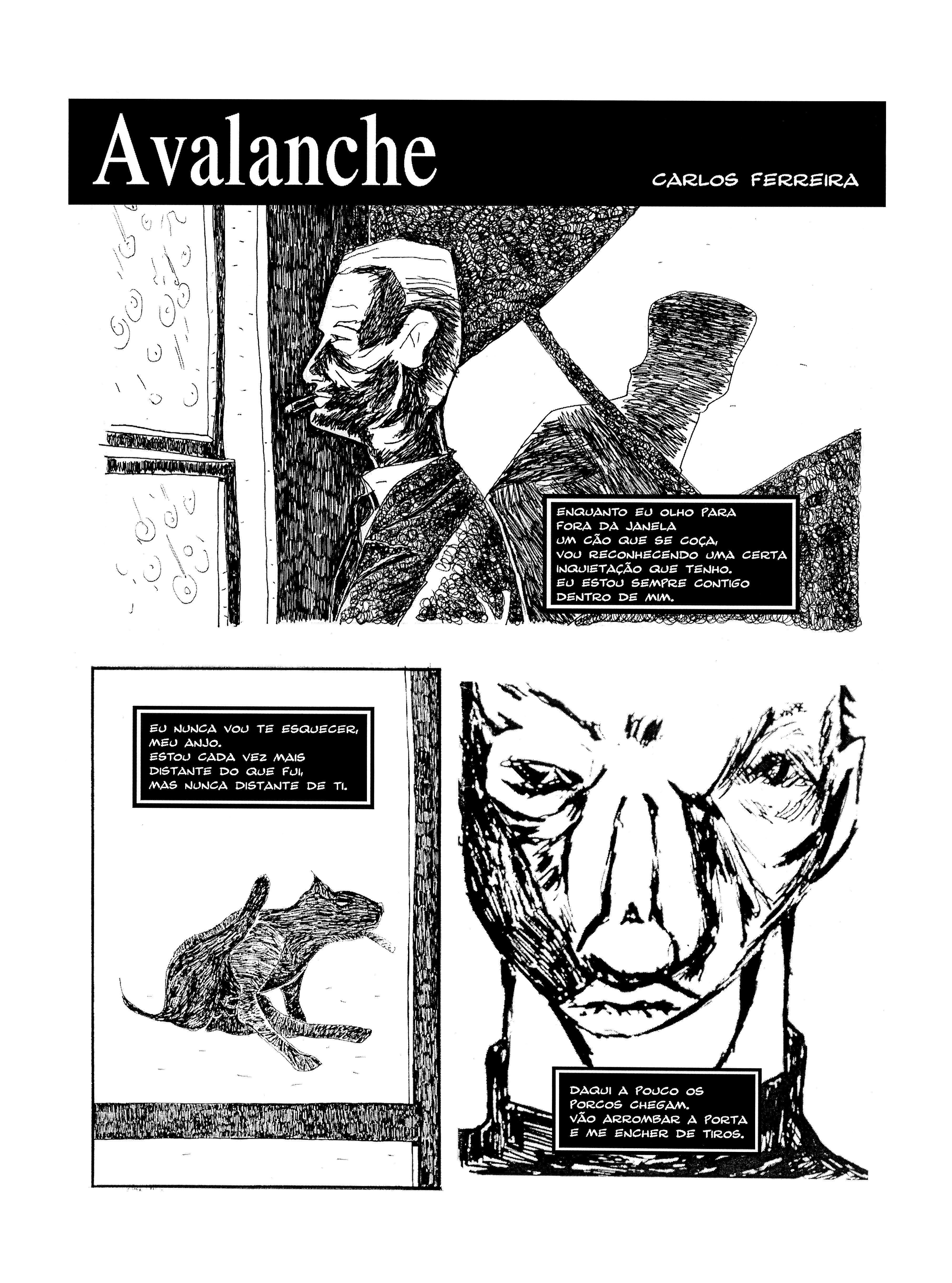 Avalanche- short comics.  Page 1.