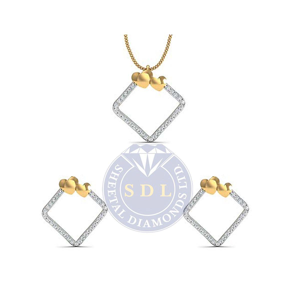 Sheetal diamonds has eternally beautiful diamond pendant sets for