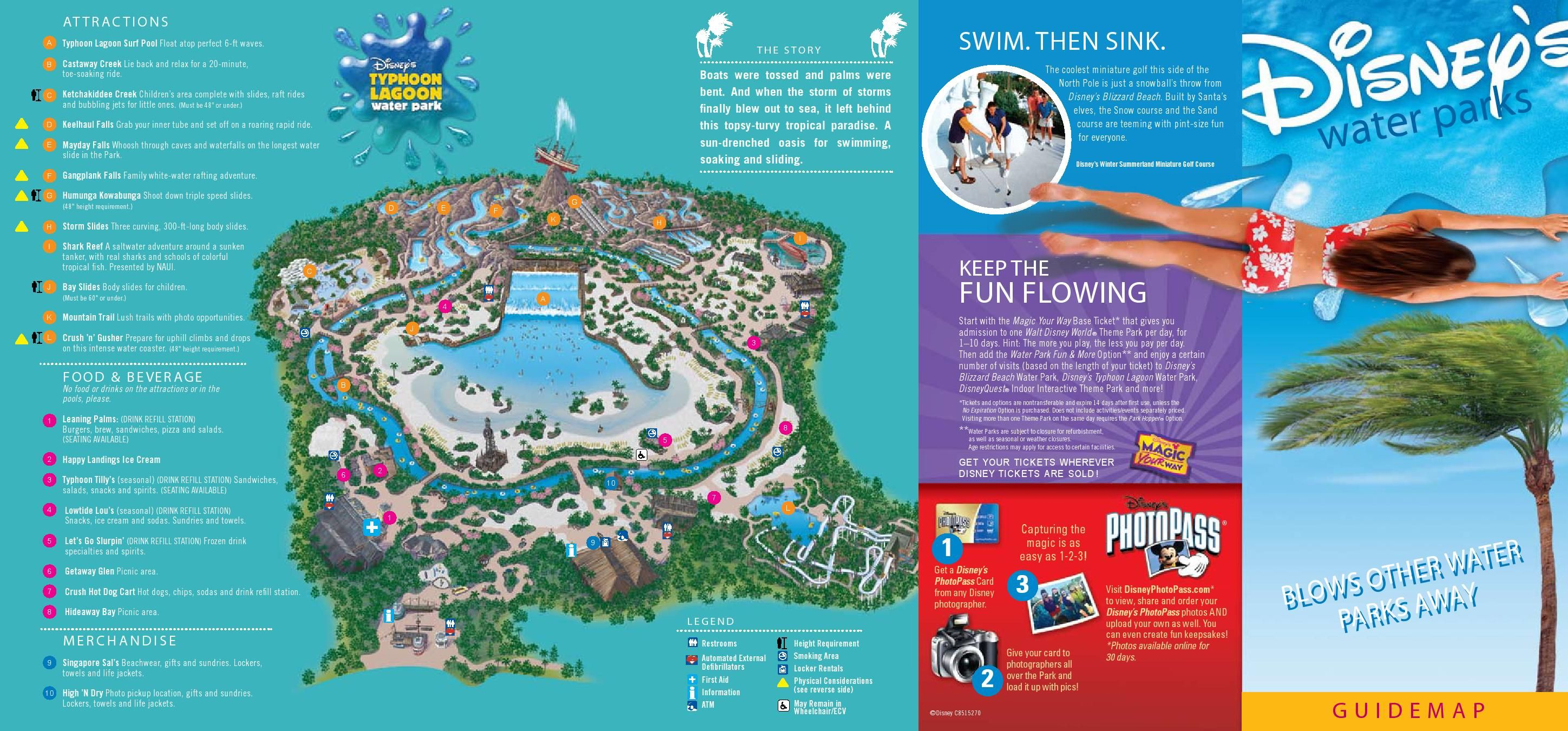 Map of Typhoon Lagoon at Walt Disney World! | Next Disney ...
