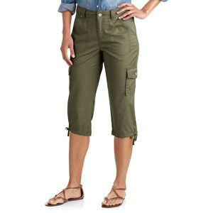 Faded Glory Women's Cotton Twill Cargo Capris @walmart | clothing ...