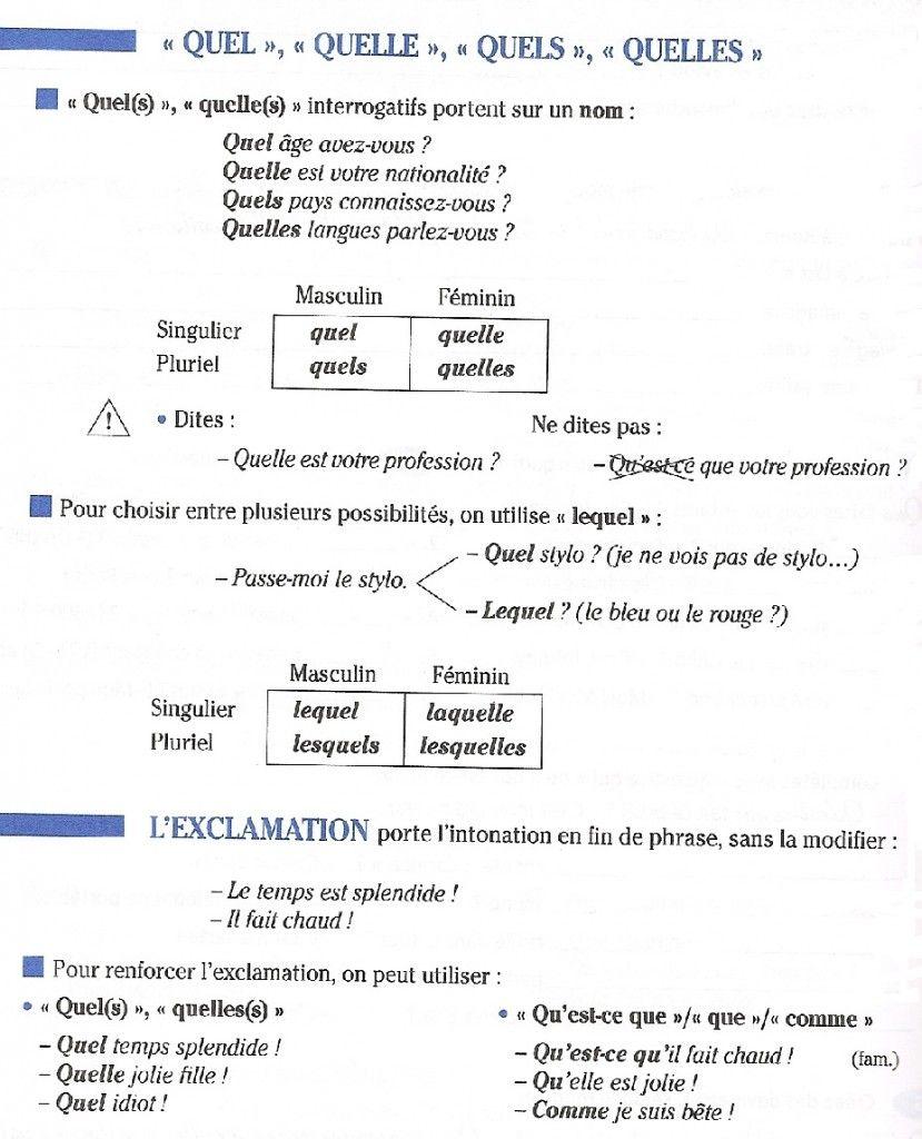 Populaire Les pronoms interrogatifs lequel, laquelle, lesquels et lesquelles  LW73