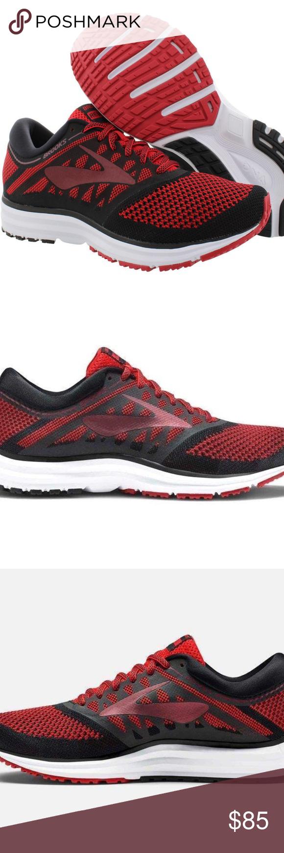 ce9d763617e Brooks Revel Running Shoes Men s Sizes NEW Brooks Revel Red Black Running  Shoes Men s Sizes Color