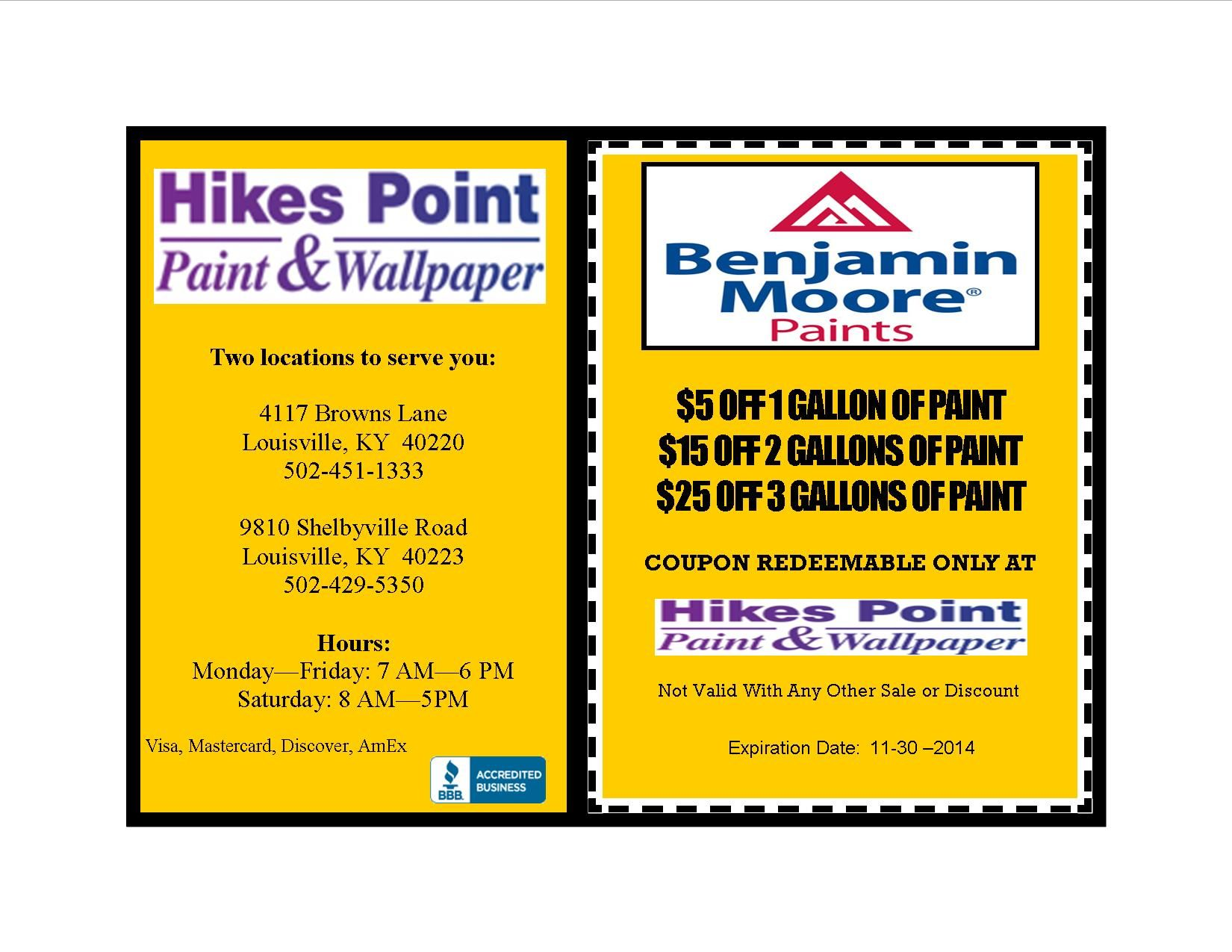 hikes point paint wallpaper inc coupons point paint on benjamin moore coupon id=46488