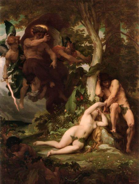 Adán Y Eva Expulsados Del Paraíso Alexander Cabanel Cabanel Adam And Eve Paradise Painting