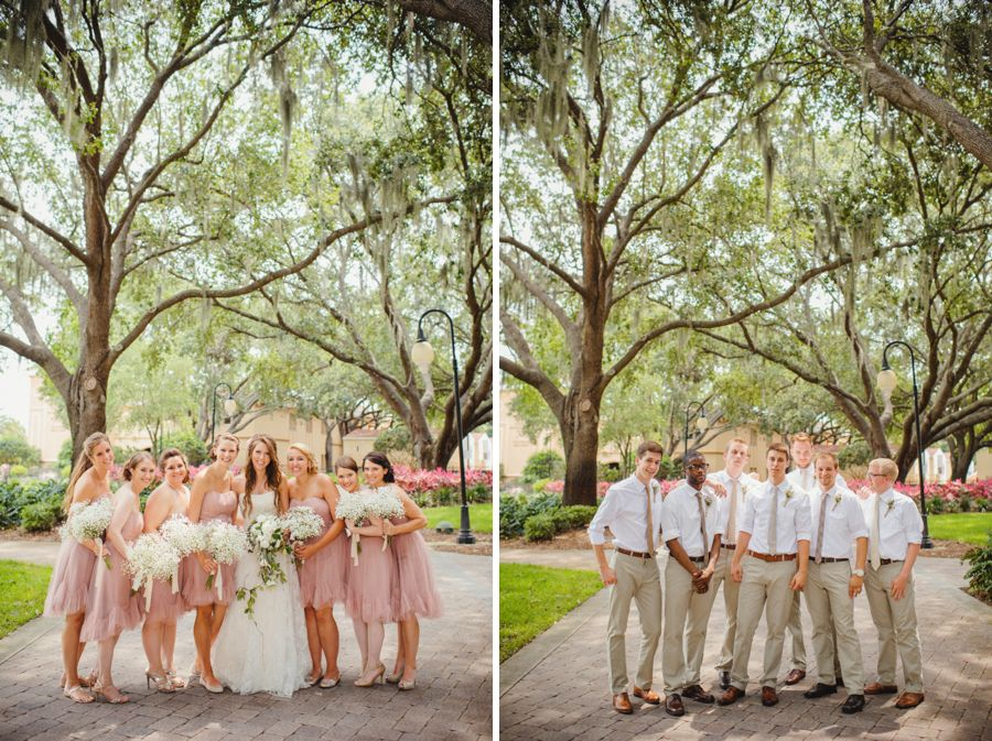 sunglow photography pink bridesmaids dress khaki