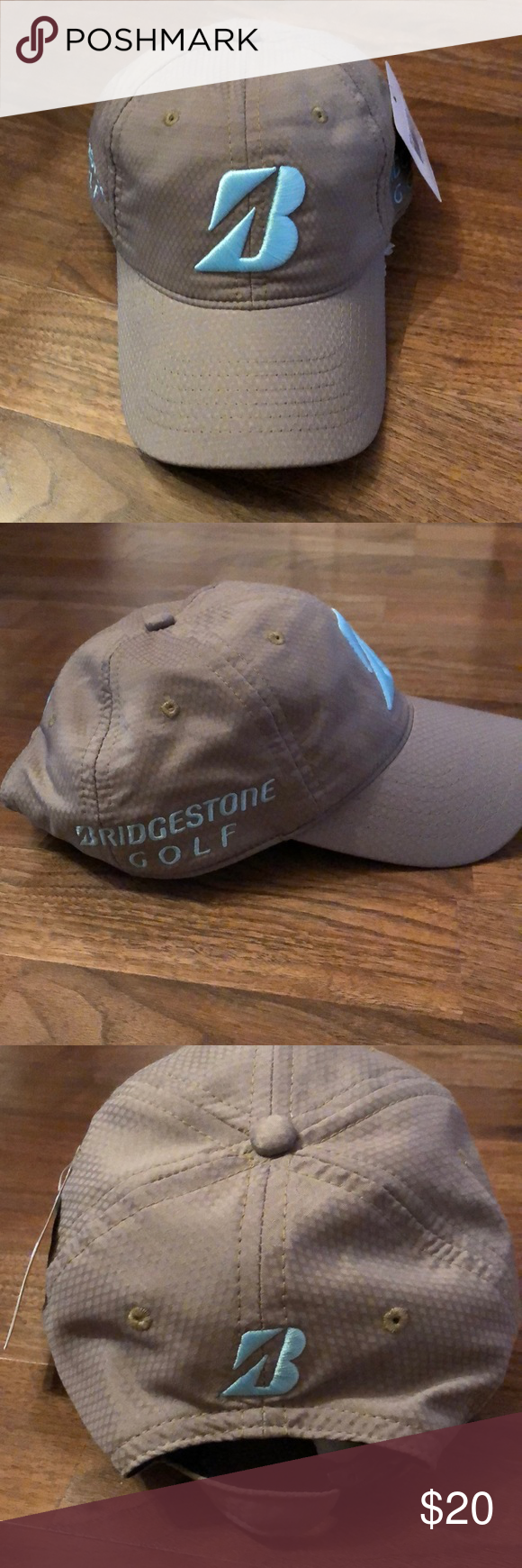 c0d7bd4a Bridgestone Golf Khaki Blue Kuchar Baseball Hat New with tags. From the  Kuchar Collection. Khaki background with baby blue embroidery.