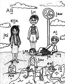 Articulation - Syllable L - Poster and Coloring Page ...