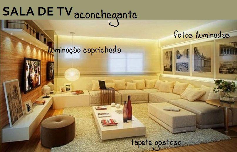 Saiba como deixar a sala de tv da sua casa aconchegante for Sofa para sala de tv
