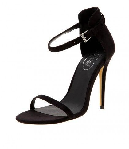 #Lipstik #Shoes #Crash #Black #Heel S9 #Suede Look #BloggerStyle #AnkleStrap $30