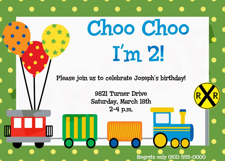 Train Birthday Party Invitation By Kinsleyskloset 15 00