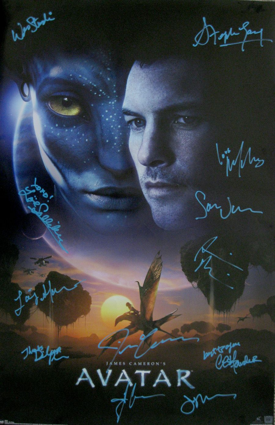 Avatar (2009) movie poster cast signed by James Cameron