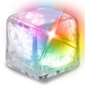 light up ice cube clear with color changing led light up ice
