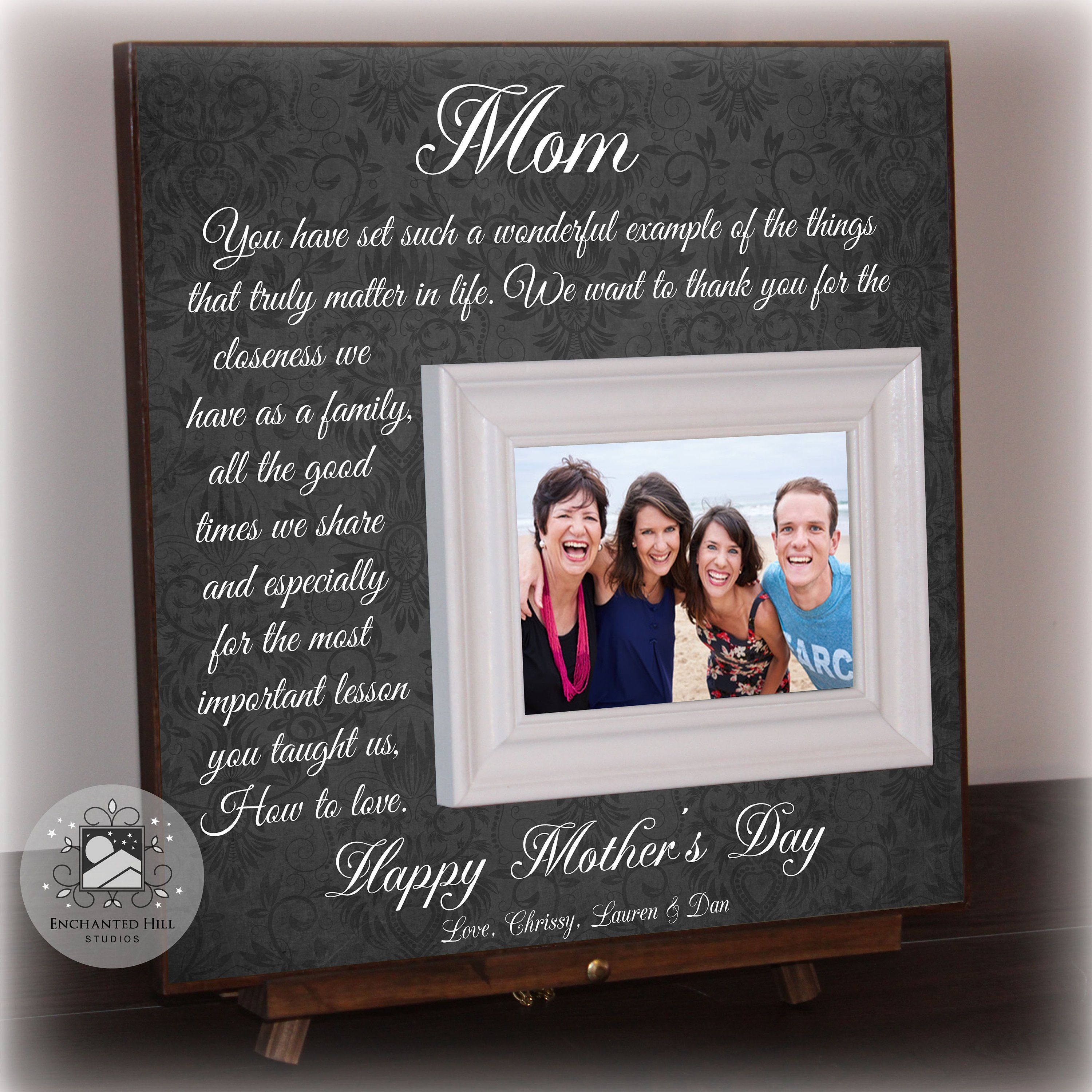 Personalised Mother/'s Day Photo Frame Gift  Mother/'s Day keepsake photo frame Birthday