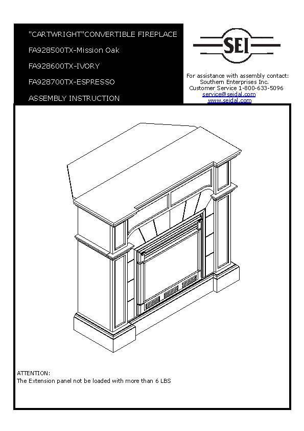 Assembly Instructions - Barkley Convertible/ Corner Electric Fireplace with Faux…