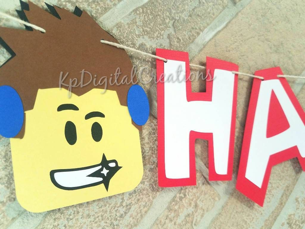Roblox Birthday Banner Roblox Party Banner Roblox Party Supplies