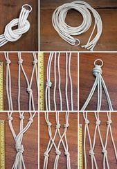 Photo of hanging basket ideas knitting strands interweaving ideas hanging decoration to …