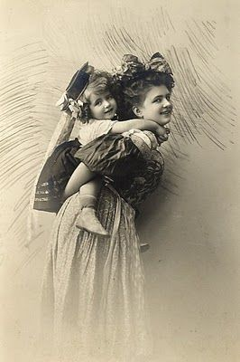 "Mother and daughter (or sisters?) in ""Bavarian"" costumes, c. early 20th C."