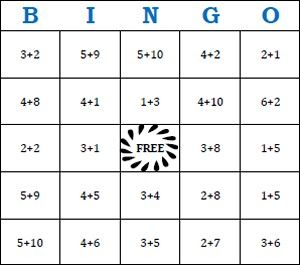 Here's a site with a huge number of addition bingo cards, call ...