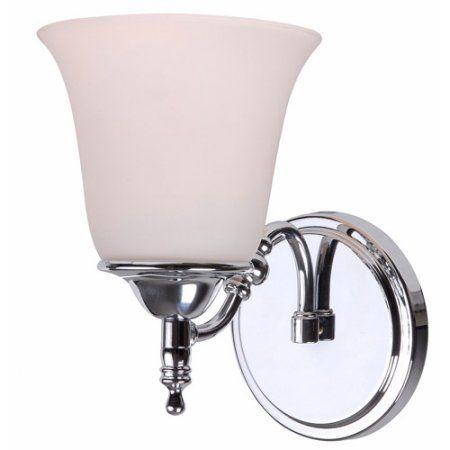 Kenroy Home Rumson 1-Light Sconce, Chrome, Silver
